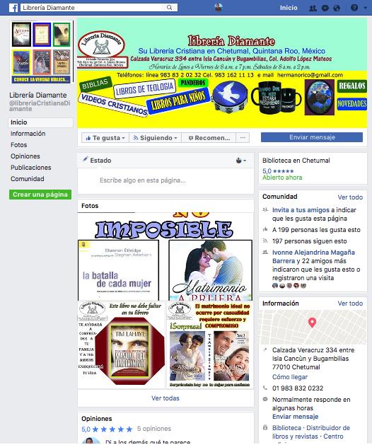 Librería Diamante Facebook